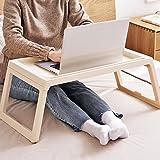 KOBWA Folding Laptop Tischständer für Bett, Bett Notebooktisch mit Klappbaren Beinen, Tragbare Schreibtisch Servieren Frühstück Im Bett Oder Verwendung als TV-Tisch