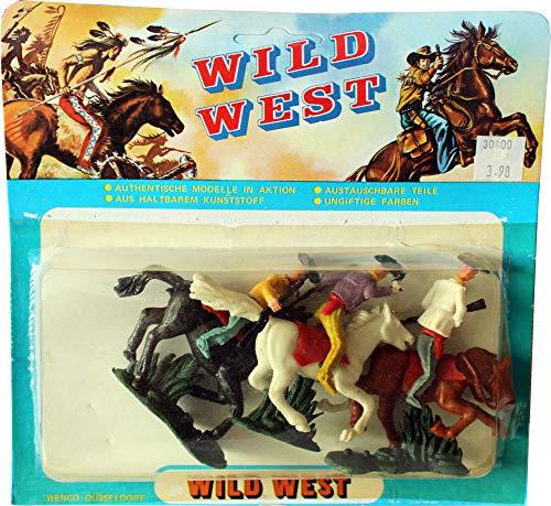 WILD WEST Figurenmodelle (Indianer vs. Cowboys): 6 Figuren in Blisterverpackung Set 1