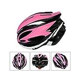 RongAngel Fahrradhelm, Fahrradhelm Für Damen Und Herren, Helm Mit Licht L (56-62) cm,Pink