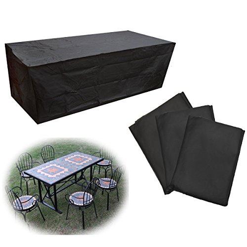 LaDicha Jardín Al Aire Libre Muebles Impermeables Conjunto Cubierta Mesa Banco Cubo Polvo Lluvia Protector - M