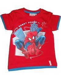 Marvel Spiderman T-Shirt Rot, Weiß oder Blau in den Gr. 98, 104, 116, 128