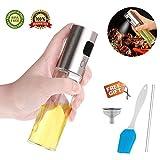 Amaza Pulverizador Aceite, Dispensador de Aceite, Botella de Vidrio de Vinagre, Oil Sprayer para...