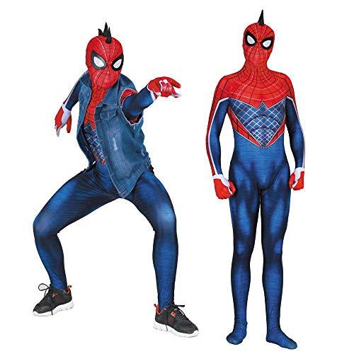 Cosplay Kleidung Punk Spiderman PS4 Cosplay Kostüm Lycra Anime Kostüm 3D Digitaldruck Enge Weihnachten Halloween Kostüm Für Erwachsene Tragen M