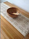American Country Continental pastoral-like Hand gehäkelte Baumwolle Tischdecke Tischdecke Tischläufer, baumwolle, beige, 40*180cm