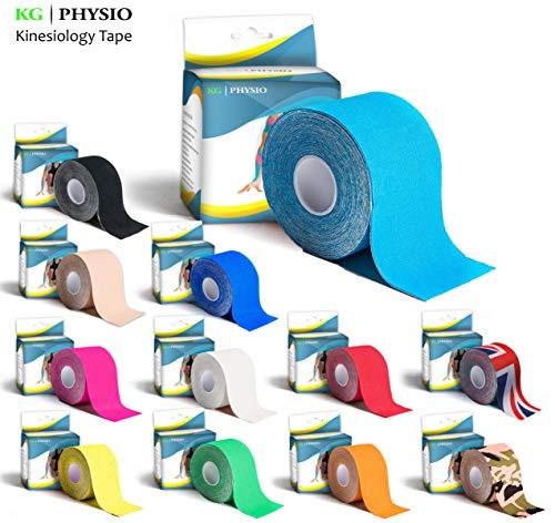 KG Physio Kinesiologie tape 5cm x 5m Rolle ungeschnittenes Kinesiotape - Bei den Bildern handelt es sich um exakte Produktfotos für eine genaue Farbdarstellung (Hellblau)