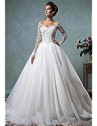 58e5472305d5 LUCKY-U Donna Vestito da sposa Abito da sposa Top in pizzo Abito da sposa  damigella d'onore Abito da ballo Lungo…