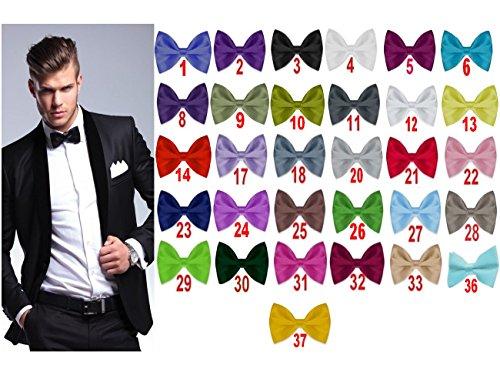 Nr.23 Dunkelblau Elegant Herren Business Hochzeit Konfirmation Anzug Smoking Fliege Schleife Schlips Verstellbar