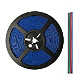 WOWLED 20M 4 Pin Wire Extension Connector Cable Cord for 3528 5050 RGB LED Strips