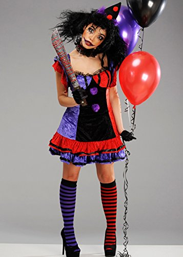 ler Clown Kostüm 1X/2X (UK 18-20) (Lady Killer Kostüm)