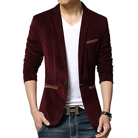 Vividda Men's Classic Stylish Velvet Slim Fit Wedding Dinner Tuxedo Casual Blazer Jacket Medium