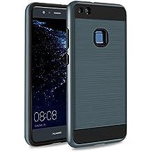 Funda Huawei P10 Lite, SKYEE P10 Lite Case Cover Desmontable antigolpes bumper Carcasa iPhone 6 Silicona TPU Gel + PC Doble protección para caídas y rasguños para Huawei P10 Lite (2017) - Azul Profundo