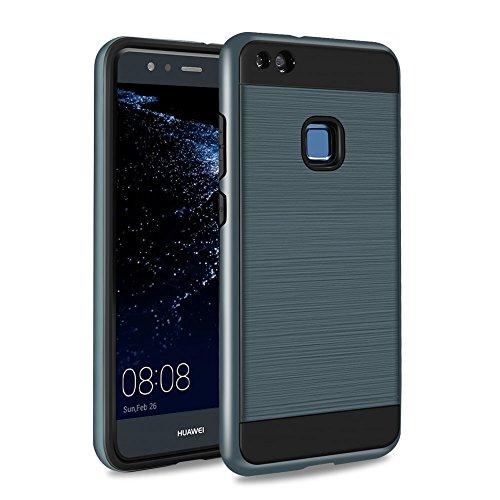 Pst-fall (Huawei P10 Lite Hülle, SKYEE [Rugged Armor] P10 Lite Handyhülle Case Cover Modisches 2-teilige Bumper Silikon TPU + PC Dual Layer Schutzhülle Tasche für Huawei P10 Lite (2017) - Dunkelblau)