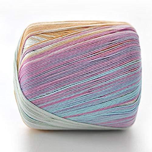 Swiftswan fatti a mano all'uncinetto filati colorati filo di pizzo no.5 puro cotone fine knitting wool linea morbida e morbida per cucire