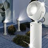 MIA Light Sockel Leuchte ↥600mm/LED/Modern/Weiß/Alu/AUSSEN Wege Lampe Aussenlampe Aussenleuchte Gartenlampe Gartenleuchte Sockellampe Sockelleuchte Wegelampe Wegeleuchte