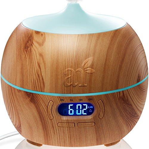 ArtNaturals Oli Essenziali Diffusore Di-Aromi - 400ml - Bluetooth Ultrasuoni Diffusore di Essenze Autospegnimento Umidificatore LED a 7 Colori Timer Nebbia Fredda...
