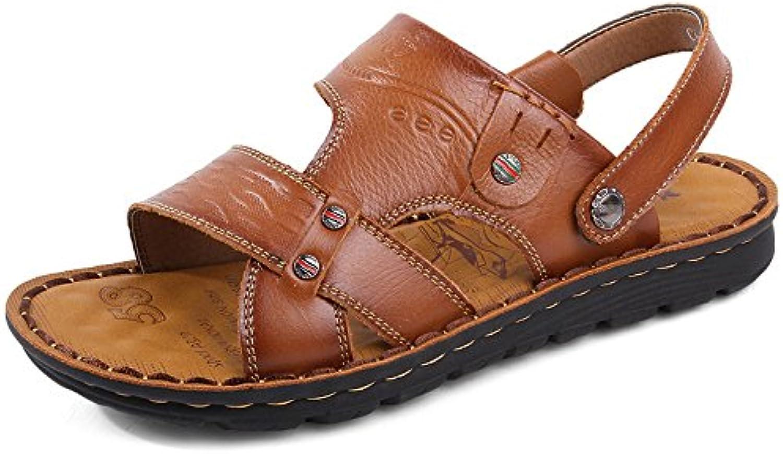 19ab597b6b3047 les sandales sandales sandales de cuir bout ouvert hgdr glisser sur les  hommes et les chaussures de ran ée les pantoufles de sandales de  plage...b07dxhx88l ...