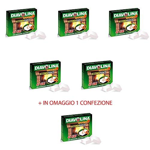 Offre 5 + 1 Gratuit allume-feux 40 morceaux Diavolina original poêle cheminée