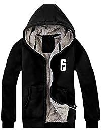 Herren Kapuzen pullover Winter Hoodie Plus Samt Verdicken Schwarz Jacke Baumwolle Sweatshirt Kleidung für Cosplay Kostüm