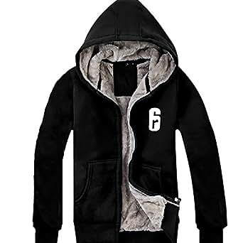 Homme Hiver Sweat à Capuche Hoodie Plus Velours Épaissir Noir Pull Coton Veste Sweat-shirt Vêtement pour Cosplay Costume