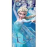 Disney Frozen Handtuch Badetuch Strandtuch Anna und Elsa, 100% Baumwolle, 70x140cm (Elsa)