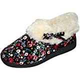 Womens Dunlop Bessie Faux Fur Collared Ankle Slipper Boots