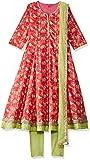 Biba Girls Anarkali Salwar Suit Set (KW2833_PINK_11)