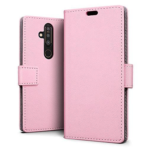 SLEO Hülle für Nokia 6.2 Hülle,PU lederhülle [Vollständigen Schutz] [Kreditkartenfach] Flip Brieftasche Schutzhülle im Bookstyle für Nokia 6.2- Rosa