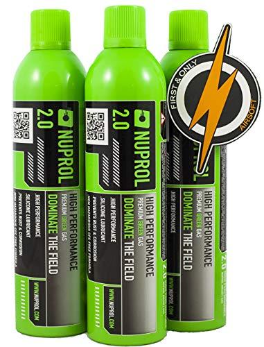 Oferta de Airsoft Gas, Gas Verde en un increíble Paquete de escaramuzas de 3 Botellas y un formulario de Parche First and Only.