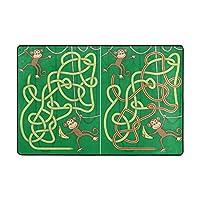 Orediy Soft Rugs Monkey Maze For Kids Lightweight Area Rugs Kids Playing Floor Mat Non Slip Yoga Rug for Living Room Bedroom