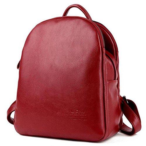 Y&F Frau Rucksack Schultertaschen Reisetasche Schulranzen Rucksack 28 * 16 * 33 cm Red