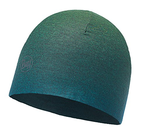 Reversible Set (SET - BUFF® MICROFIBER REVERSIBLE HAT Mütze + UP® Ultrapower Schlauchtuch | Beanie | Logo | Atmungsaktiv | Geruchshemmend, Buff Design:NOD DEEP TEAL - 115334.710.10.00)