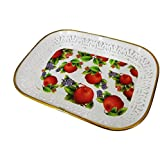 Baal Tableware Dishes Serving Tray Decorative Tray Serving Platters For Tea Coffee And Snacks, 40 Gram, Multi Colored, Pack Of 1