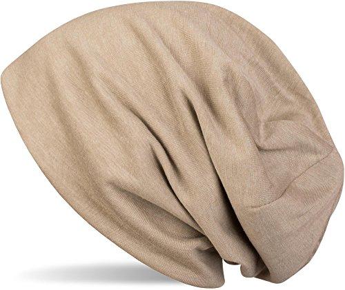 styleBREAKER Klassische Slouch Beanie Mütze, leicht, Unisex 04024018, Farbe:Beige (Männer-beanie-mütze)