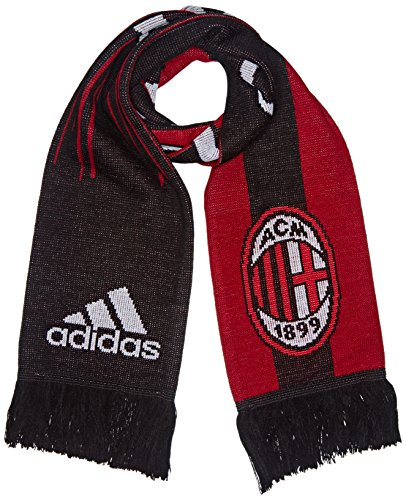adidas FC AC Milan Écharpe Mixte Adulte, Noir/Victory Red, FR (Taille Fabricant : OSFM)