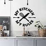 caowenhao Meine küche Meine Regel wandkarte küche wandpaste Messer und Gabel wandbild Dekoration...