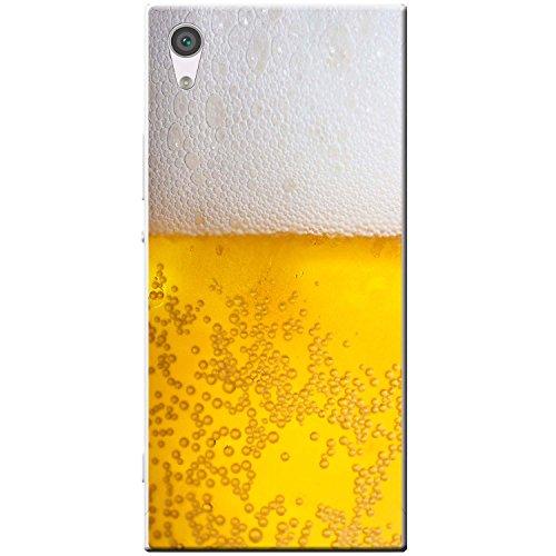 Nahaufnahme schaumiges Bier weiße Krone Hartschalenhülle Telefonhülle zum Aufstecken für Sony Xperia XA1 Ultra