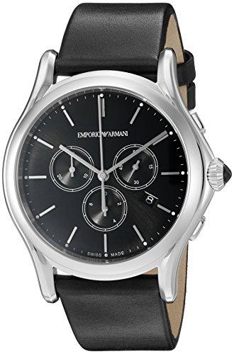 dc1be6cc5bd7 Emporio Armani ARS4001 del Swiss Made Hombres pantalla analógica Swiss reloj  de cuarzo negro