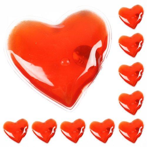 Confezione da 10 gel riutilizzabile dello scaldino della mano Heat Pack - confezioni Riscaldamento istantanea (cuore)