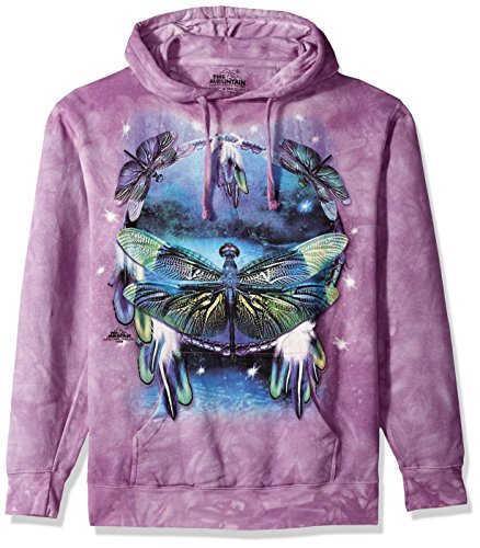 The Mountain Herren Dragonfly Dreamcat Hooded Sweatshirt T-Shirt, violett, Mittel -