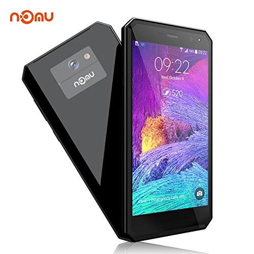 Outdoor Handy IP68 Android 7.0, NOMU M6 4G Rugged Smartphone Ohne Vertrag, 5,0 Zoll IPS MTK6737T Quad Core 1.5GHz Dual SIM 2GB RAM+16GB ROM, 13MP+5MP Kameras, Wasserdichte/Stoßfest/Staubdicht(Schwarz)