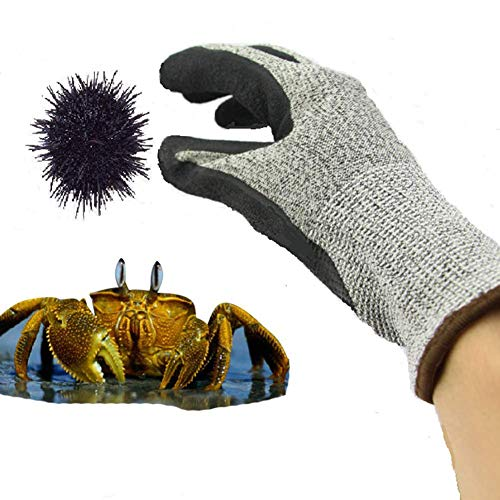 KYCD Cut-Proof Level 5 Sicherheitshandschuhe, Catch Crab Crayfish Handschuhe, Stab-Resistant Blumenarrangement Labor Insurance Tauchen Fang Seeigel, Austern Öffnen,S