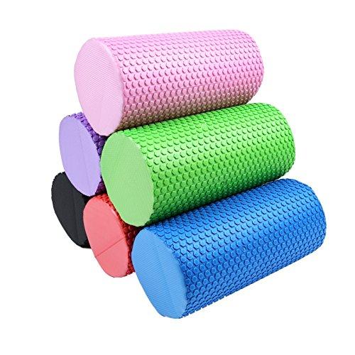 Balight Yoga-Schaum-Rolle, punktierte Feste Zylinder-Form Eva-Balance-Zus?TZE f¨¹r Pilates 30cm St?rke (Unze-schaum 4)