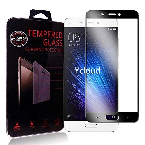 Ycloud Für Xiaomi Mi5 Schutzfolie Panzerglas Bildschirmschutzfolie, Volldeckender vorgespannter Film Anti-Kratz Schutzfolie Für Xiaomi Mi5 - Schwarz