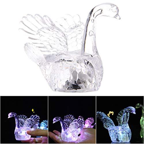 Schwan 3D Nachtlicht | Tisch Schreibtischlampe | 7 Farben 3D optische Täuschung Lichter ()