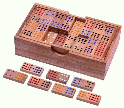 Domino Doppel 12 - Legespiel - Gesellschaftsspiel aus Holz mit 91 Spielsteinen -