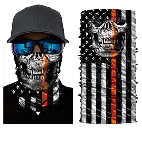 qiulv Multifunktional Kopfbedeckungen Tube Gesicht Bandana Sturmhauben Headband Schweißband Hals Gamasche Angeln Maske Sport Sportlich Kopf Wickeln Zum Mann 12-in-1 , C (Kopf Angeln Hals Und Rohr)