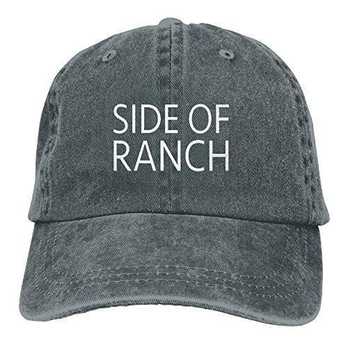 Zengyan Side of Ranch Washed Cap Cowboy Baseball Hat Asphalt Carolina Ranch