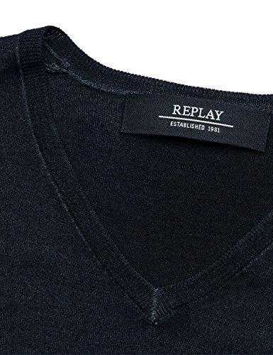 Replay Herren Pullover Schwarz (Black 98)