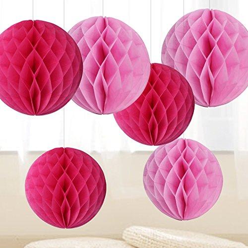 6er wabenball set wabenbälle Rosa Pink Deko Dekoration hängedeko für hochzeit kindergeburtstag baby shower
