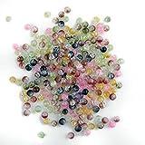 250X Abalorios Bolas Redondo Cristal Colores Manualidades